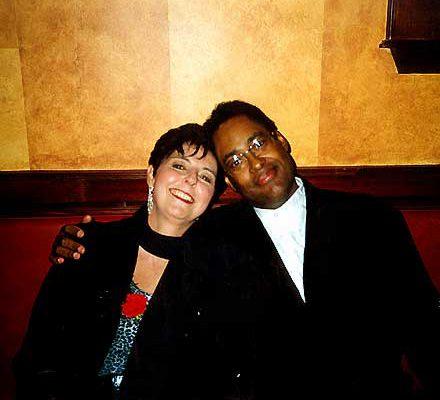 Judy Rafat mit Jon Faddis, Dizzys Gedenkfeier, New Jersey 1997