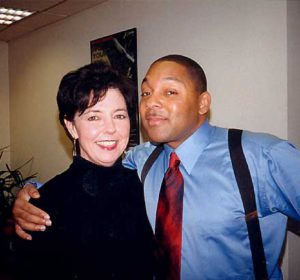 Judy Rafat mit Wynton Marsalis, Schanghai 2000
