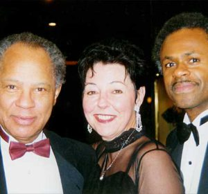 Judy Rafat mit Phil Morrison & Keith Williams, Ritz Carlton, Schanghai 2000