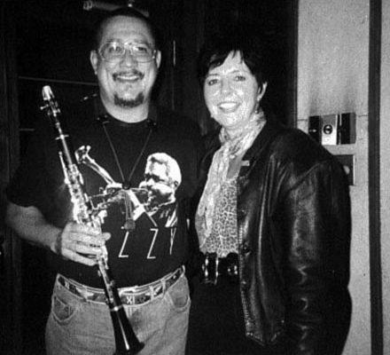 Judy Rafat mit Paquito d'Rivera, New York 1997