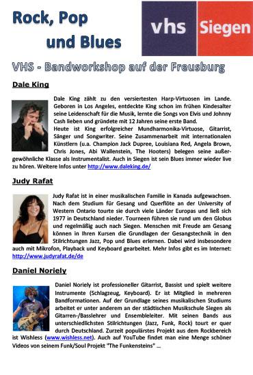 Bandworkshop mit Judy Rafat