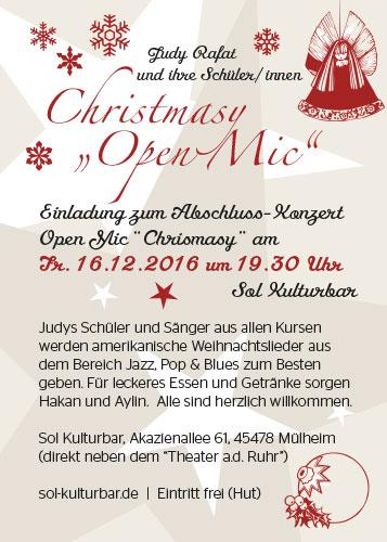 Abschluss-Konzert Open Mic Night mit Judy Rafat